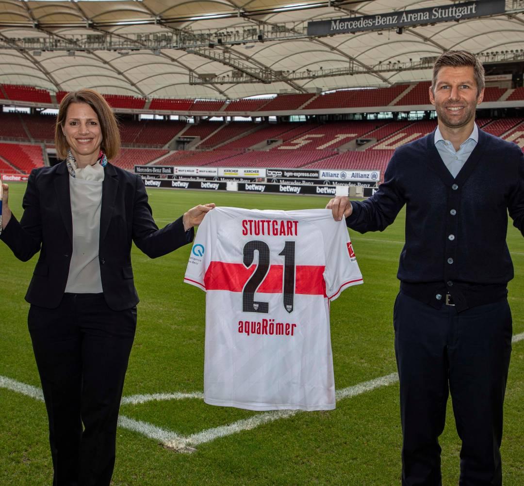 aquaRömer wird neuer Mineralwasser-Partner des VfB Stuttgart